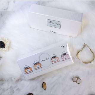 〈包順豐〉Miss Dior miniature perfume set of 4 gift box 四支迷你香水套裝