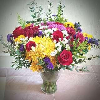 Fresh Flowers, Table Arrangement