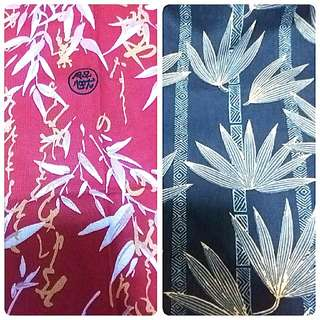 Japanese Blue Bamboo Leaves fabric for tote bag, pouch