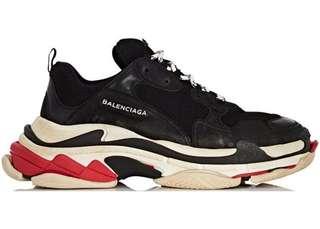 Balenciaga Triple S Sneakers Black Red Bred