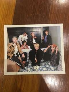 BTS WINGS OFFICIAL OT7 LIMITED EDITION PHOTOCARD