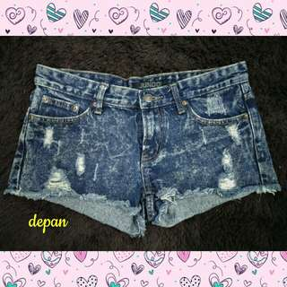 RIPPED JEANS / HOTPANTS BLUE