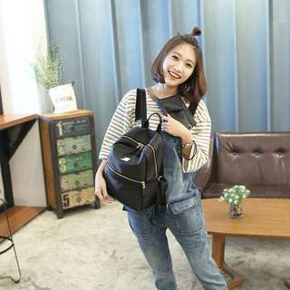 Woman Fashion Casual Oxford Leather Bagpack Travel Bag