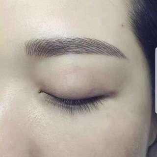 6D Korean eyebrow embroidery + FREE eyelash extension