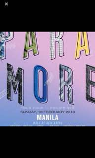 LF:3 GEN.ADMISSION TICKET for PARAMORE CONCERT