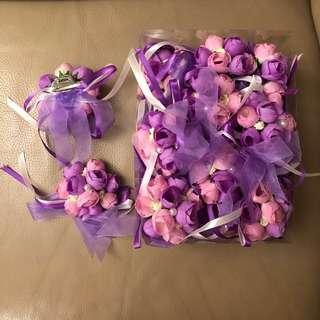 親戚紫色系襟花🌺 共15個(可散買)