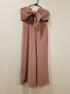Dusty pink strapless jumpsuit never worn