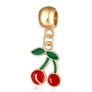 Red Cherries Golden Charm