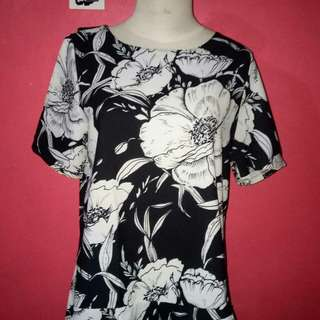 Blouse flower BW