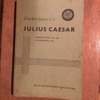 Buku kuno tahun 1901 Julius Caesar Shakespeare's