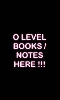 O level books and notes