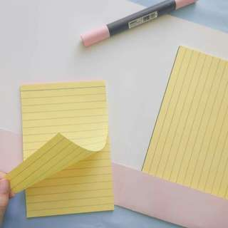 1/4 and 1/2 Yellow Pad with Folder