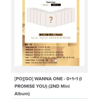 [PO] 2 Albums Package: WANNA ONE - 0+1=1 (I PROMISE YOU) (2ND Mini Album)