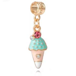 Blue Ice Cream Cone Charm