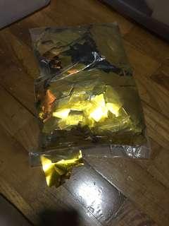 Golden colour confetti