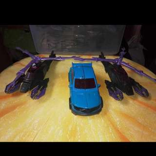 Transformers prime-deluxe class airachnid and rumble