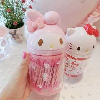 PO My Melody / Hello Kitty Cotton Bud Container