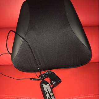 Spinal support massage cushion