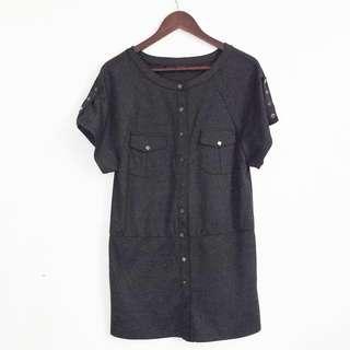 ZUCOZZ Dark Gray Mini Dress