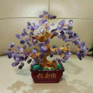 ✨天然紫水晶招財樹擺設✨(T001)