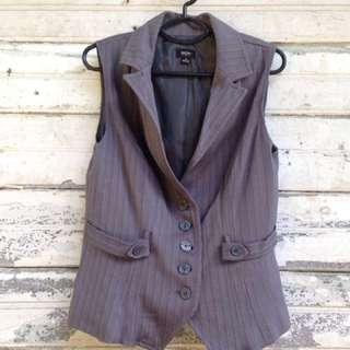 Mossimo Women's Striped Gray Vest