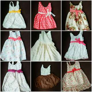 Baby dresses 0-24 months