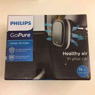 BNIP PHILIPS GOPURE COMPACT 100 AIRMAX CAR AIR PURIFIER
