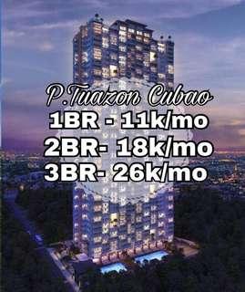 1 Bedroom Near Cubao P.Tuazon Condo For Sale Preselling