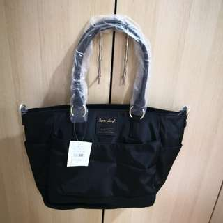 [PO] Japan Anello Legato Largo 10 Pockets 2 Way Tote Shoulder Sling Bag~ Original 100% Authentic ☆Black ☆LH-C1795