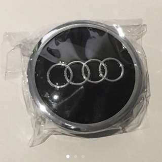 Black Chrome Audi Wheel Center Cap in 69mm