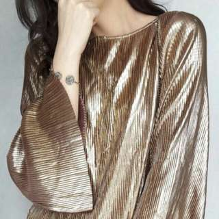 Blouse metalic plated