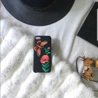 iPhone 5/5s/5se Leather Case w/ Patches