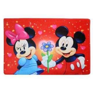 🚚 迪士尼MICKEY&MINNIE米奇米妮墊子 地墊 地毯 踏墊 寵物墊 寵物毯