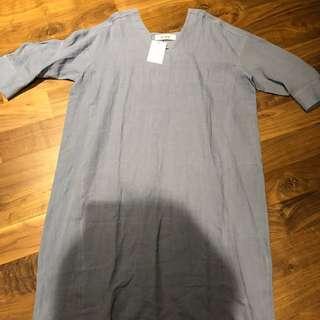 BNWT korean oversize linen dress