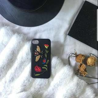 iPhone 7/7s Leather Case w/ Patches