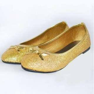 Toddler girl shoes gold glitter