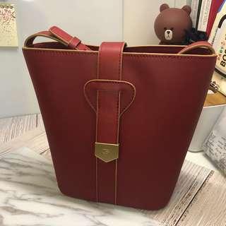 OBX 棗紅色水桶袋