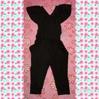 Silky Romper (black and broze)