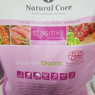 Natural Core Canine Eco Organic Series 6 Sensitive Solution Salmon Formula 2.4kg