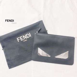 FENDI Leather Clutch