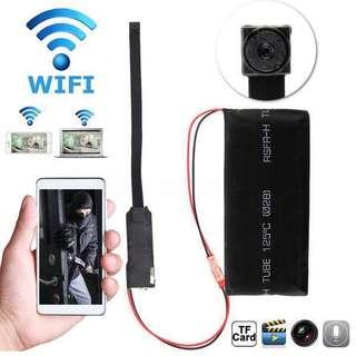 Spy Camera - Hidden Camera - Pinhole Camera - Wireless IP Spy Camera (Build in Battery) Own Wifi Hotspot - Full-HD 1080P Resolution (Voice Recording Function) - 7-STAR*  HD Mini Portable Hidden Wireless Camera
