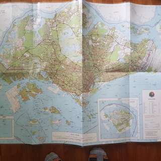 1:50,000 Topographical Map of Singapore