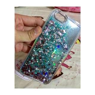 全新 iphone6/6s 湖藍色流沙case