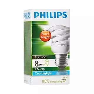 Philips E27 Tornado light bulb