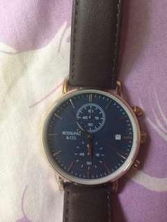 兩年保養 Rossling & Co. Rose Gold Case Blue Dial