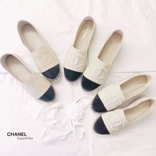 CHANEL Classic/Pearl Espadrilles