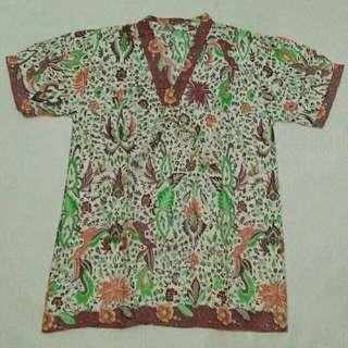 Creme Short Sleeve Batik Shirt