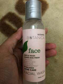 Gentle wash for acne