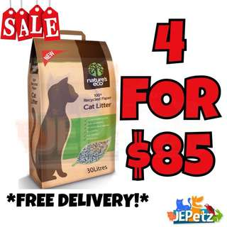 *NEW PROMO + FREE DELIVERY* Nature Eco's Cat Litter 30L