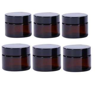 20gr, 50gr Refillable Amber Glass Jar